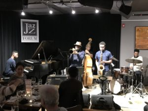 Julius Rodriguez Quintet performing live at the Jazz Forum Club in Tarrytown