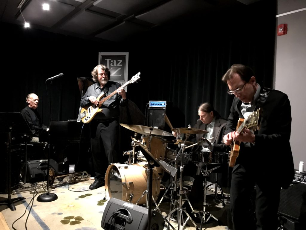 The Brubeck Brothers Quartet performing a jazz show live at the club in Tarrytown, NY