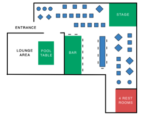 Jazz Forum - Seating map