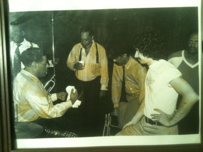 Dizzy Gillespie on the set