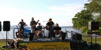 Live outdoor jazz concert in Dobbs Ferry, New York