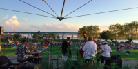Live outdoor music performance in Tarrytown, New York